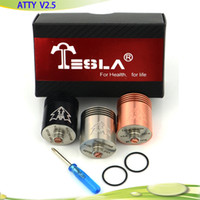 Replaceable 4.5ml Metal 2014 New Arrival Copper Tobh RBA RDA Atomizer Clone Tobh Atty V2.5 Atomizer Tobh Atomizer 1:1 clone Vaporizer E cigarette