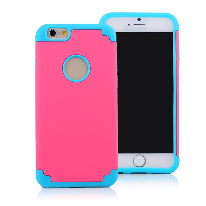 Buy iPhone 6 SE Cases 2 1 Sillicon Robot Case Dual Color Protective Cover Cellphone 5.5 4.7 inch iPhone6 S6 Edge Plus Note 5 HTC M9