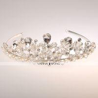 Wholesale Hot sale In Stock Beautiful Fashion Headwear Hair Accessory Ornament Brial Tiara Wedding Bridal Prom Princess Crystal Tiara Crown