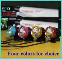 120W bike light lumen - 1200 Lumen in CREE XM L T6 LED Bicycle bike HeadLight Lamp Flashlight Light Headlamp with Rechargeable Battery Charger four colors