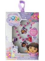 Jewelry Sets Fashion 1bracelet +1necklace +2ring Fashion jewelry cute Dora Princess Series jewelry sets children kid's necklace bracelet ring 1lot=3set mix color wholesale