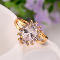 Solitaire Ring natural diamond - 2 colors natural diamond engagement ring lovers wedding ring for men and women gold jewelry gemstone ring rose gold yellow gold flower ring