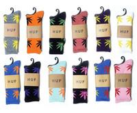 Wholesale HUF plantlife socks streetwear Stockings Fashion men women cotton Socks sport sock hemp leaf socks thick thread many colors pairs
