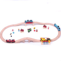 Wholesale Wooden train track tracks orbit trains compatible wooden set track set fun and creative toys