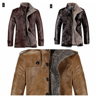 Wholesale Collar PU skin long business men s jackets waterproof leather jacket high end men s Faux Leather jacket