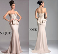 elegant dresses - Janique Designer Cheap Long Formal Evening Dresses Elegant Sweetheart Mermaid Dress Sweep Train With Lace Beads Stain Evening Wear Dresses