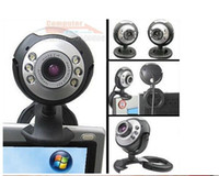 Wholesale web cam computer camera digital USB LED Webcam with Mic Digital Camera usb webcam pc webcam
