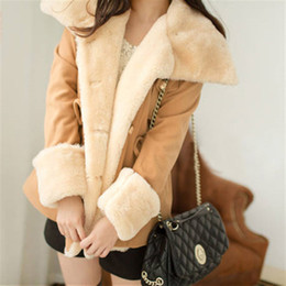Free Shipping 2014 winter warm coats women wool slim double breasted wool coat winter jacket women fur women's coat jackets new