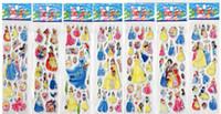 Wholesale 100 cm SPONGE D Kids Stickers princess FROZEN STICKERS kids toys DIY Adhesive paper