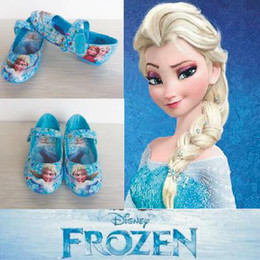 Wholesale New baby girls frozen shoes children fashion party shoes kids sport Elsa and Anna princess shoes Top quality