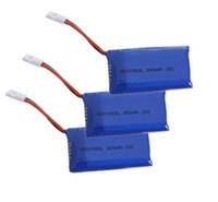 (3 PCS) 3.7V 380mAh 25C bateria para joaninha / V252 / H107C / H107L / JXD 385 / U816