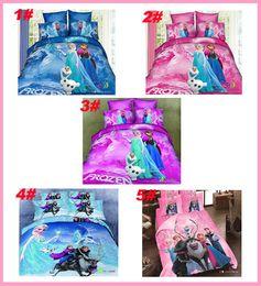 Wholesale 2014 new arrrivel D M cartoon kids bedding sets Anna Elsa Bedding Sets bed set king size bed linen Quilt Cover fast shipping