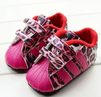 shoe factory - factory STYLE Neonatal soft bottom casual shoes Baby pink leopard shoes Velcro toddler shoes Cheap shoes pair CL