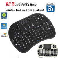 Wholesale Rii mini i8 Air Mouse Multi Media Remote Control Touchpad Handheld Keyboard for Android TV BOX PC Laptop Tablet Mini PC