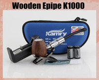 Cheap Wooden Epipe K1000 Epipe K1000 Mod Electronic Cigarette Kit 900mah Battery K1000 Tank Atomizer Huge Vapor K1000 Zipper Case TZ119