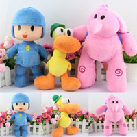 Wholesale New set PATO Pocoyo ELLY PATO Soft Plush Stuffed Figure Toy Doll POCOYO kids birthday gift