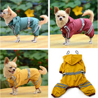 Wholesale Pet Dog Raincoat Clothes Hoodie New Arrival Polyester Fiber Pet Rain coat Dog Puppy Clothing Yellow Red Green Color