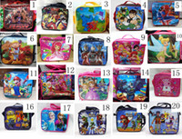 Wholesale High Quality Cartoon Children Lunch Box TinkerBell Pokemon Frozen SuperMario Despicable me Batman Strawberry Sesame Street