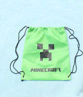 Wholesale Minecraft bag bags Minecraft backpack Minecraft Creeper Draw String Back pack Sling Bag High Quality