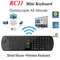 Wholesale Drop Shipping Fly Air Mouse RC11 keyboard GHz wireless Keyboard for google android Mini PC TV Palyer box fly air mouse RC11