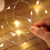 Wholesale 2M leds warm white submersible led copper wire string lights coin battery powered for wedding event party decoration