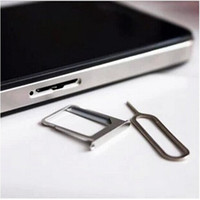 Wholesale 3000pcs SIM Card Eject Tool Needle Pin For iPhone G GS iPhone S iPhone S Free DHL FEDEX