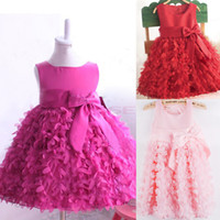 TuTu dress one size - New Girls Kids One Piece Dress Tutu Dress Birthday Gift Costume Girls Chiffon Party Dress Colors Sizes SV000588