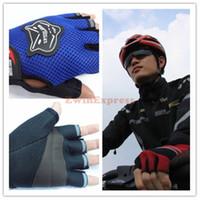 new motorbike gloves - 5X pairs Pair Men s Motorcycle Motorbike Racing Bike Fingerless Gloves Blue