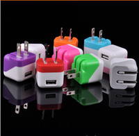 Double Color Folding USB Plug Charger Home Wall Charger for ...