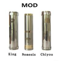 18350,18360 Adjustable  Mechanical Mod Locking Bottom Button Adjustable King Nemesis Chi you Electronic Cigarette E Cigarette Mod fit 18650 battery mod clone vapors