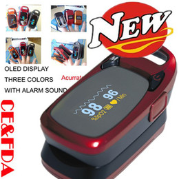 CE proved!! 3 Color -- Anti-shaking OLED Display Finger pulse oximeter SPO2&PR+Alarm function&Auto-off