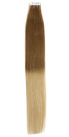 "1sets 18"" ombre remy tape skin hair extensions #12 20, ..."
