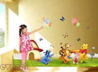 winnie the pooh - Cute Winnie the Pooh Meadow Removable Wall Sticker Kids Nursery Decor Decals DH04
