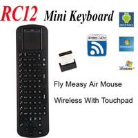 android palyer - Drop Shipping Touchpad Mini Fly Air Mouse RC12 GHz wireless Keyboard for google android Mini PC TV Palyer box CS918 Q7