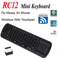 Wholesale Wireless Keyboard Wireless Mouse With Touch Pad Measy Air Mouse G Wireless Keyboard for PC Android Smart TV Box Notebook RC12