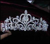 Headbands Silk Flower  Shining Wedding Bridal Crystal Veil Tiara Crown Headband