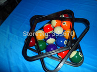 Wholesale Billiards Ball Pool Rack Table Ball Combo Diamond Rack Plastic Black For Using With Balls Plastic Material