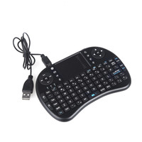 Wholesale 2 G Mini Wireless QWERTY Keyboard Mouse Touchpad for PC Notebook Android TV Box HTPC Black DHL free LY
