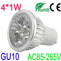 85-265V 4W Warm White 4W GU10 LED Silver Spot Light Bulb Solar Lamp High Power Warm White Color Sign SMD Strip Garden RGB Water Proof Indoor AC85-265V
