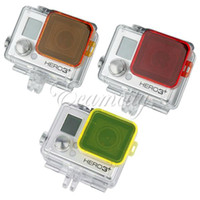 Wholesale Orange Red Yellow Underwater Sea Dive Color Camera Filter for Gopro HD Hero