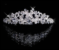Hair Combs bridal hair ornament - Each one Butterfly Crown Combs Wedding Bridal Tiara Jewelry Crystal Hair Ornaments Wedding Dress Accessories Each buyers