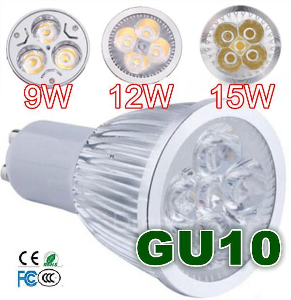 MR16 GU5.3 E14 9W 12W 15W Dimmable CREE High power LED Spot Light Bulb