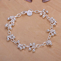 Wholesale sterling silver jewelry bracelet fine fashion grape bead bracelet top quality and retail SMTH085