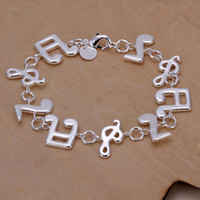 Wholesale sterling silver jewelry bracelet fine fashion music Bracelet top quality and retail