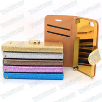 For Apple iPhone Leather  For iPhone 5 5S 5G Case Leather Flip Magnetic With Card Holder Wallet Case Cover For iPhone 5 5G 5C