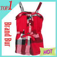Wholesale 2013 New Plaid Girls Overalls London Brand Clothing Belt pocket Plaid Girls jumpsuits11