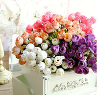 Christmas artificial christmas wreath - Christmas Supply Mini Rose Artificial Flowers Colors Selection Rosebuds Star Party Decoration Wreaths Silk Bud Free UPS Factory Direct