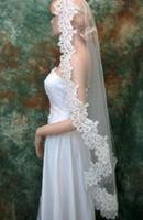 Cheap One-Layer Clothing Accessories / be Best Blusher/ Short Veils Cut Edge Wedding dress accessories