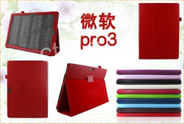 Wholesale Folio Stand PU Leather Case Cover for Microsoft Surface Pro INCH