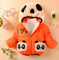 Wholesale Children Clothing panda Cartoon Outwear Child Boy Winter Wear Thickening Outerwear Coat Kids cotton padded jacket